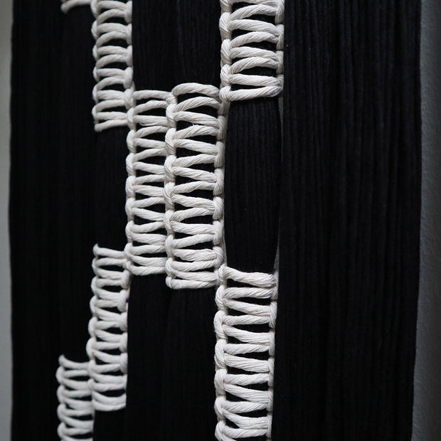black and white wall hanging belle