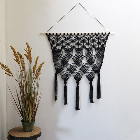 Macrame Wall Hanging Laura - Black