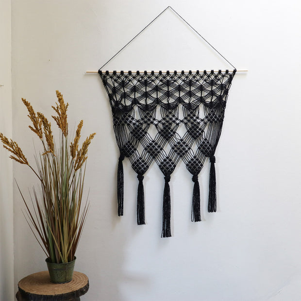 Macrame Wall Hanging - Black - Laura