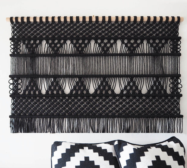 large black macrame wall hanging uk