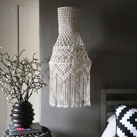 boho macrame chandelier pendant light shade lisa