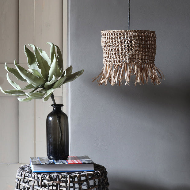 Boho Raffia Light Shade 25cm diameter