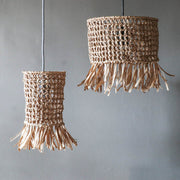 raffia wicker light shade - tassel light shades
