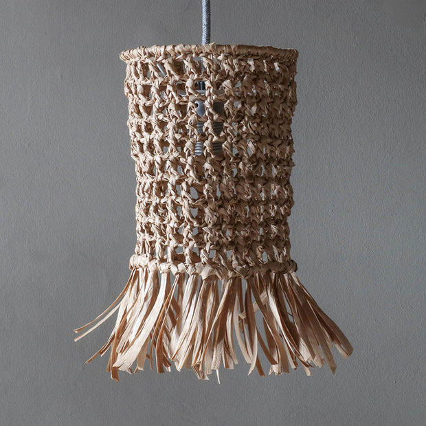 raffia wicker light shade - tassel light shade uk