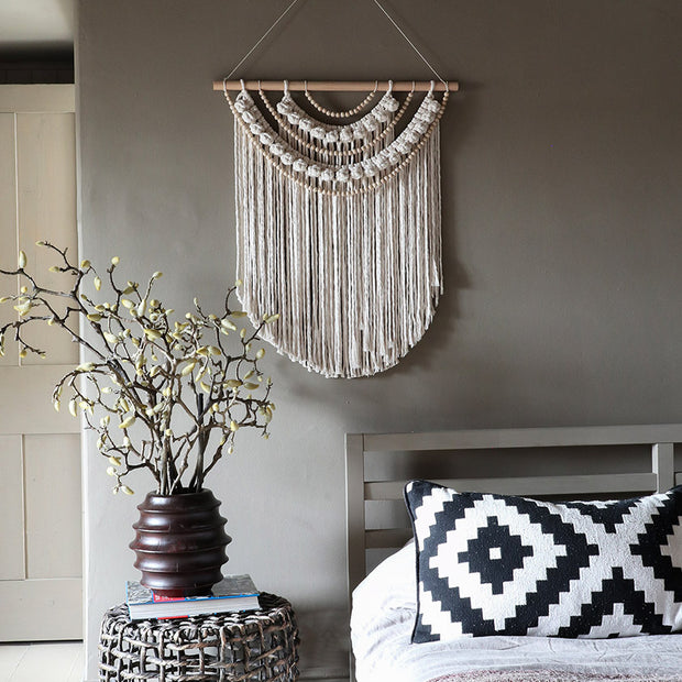 Boho Beaded Tassel Wall Hanging - Betty UK