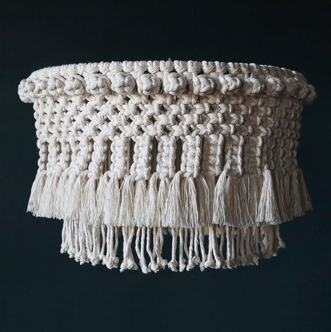 Boho Tassel Tier Macrame Light Shade - Diora