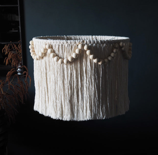 boho ceiling tassel light shade - pula beaded