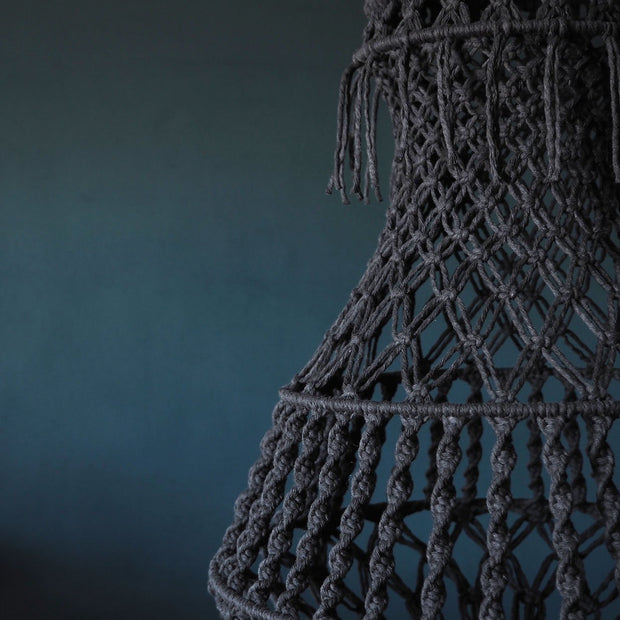 Quirky Boho Macrame Chandelier Light Shade