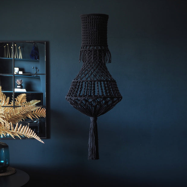 Quirky Boho Macrame Chandelier Light Fitting - The Knotted Touch