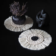 Boho Coasters – Set of 2 - Black & Cream
