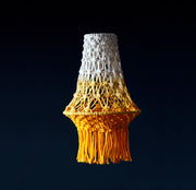 Boho Pendant Light – White & Yellow Ombre – Carin