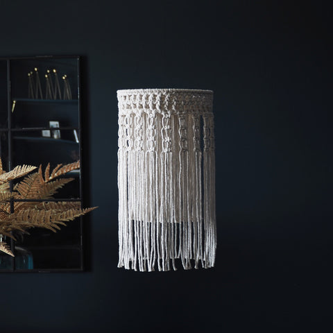 Boho Tassel Macrame Chandelier Light