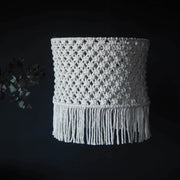 boho tassel macrame lampshade Bohena  - the knotted touch
