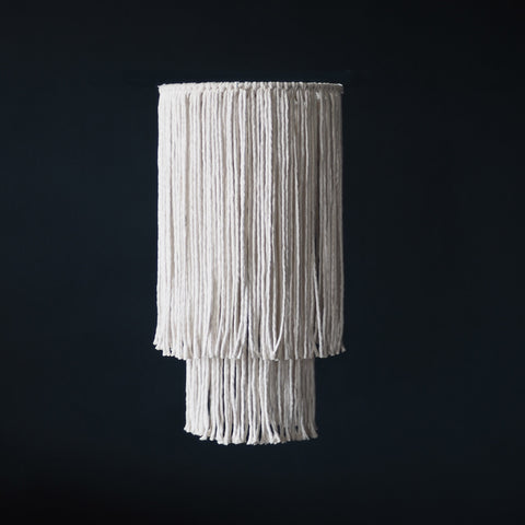 Boho Tassel Light Shade Chandelier - Sorina - 2 tier - The Knotted Touch UK