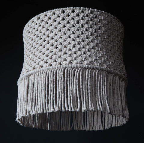 Boho Macrame Light Shade – Perona - The Knotted Touch UK