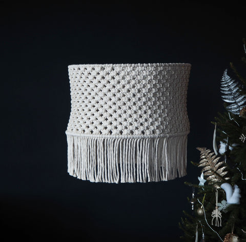 Boho Tassel Macrame Light Shade – Perona - Boho Lighting UK