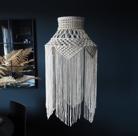 Boho Tassel Macrame Light Shade – Liana
