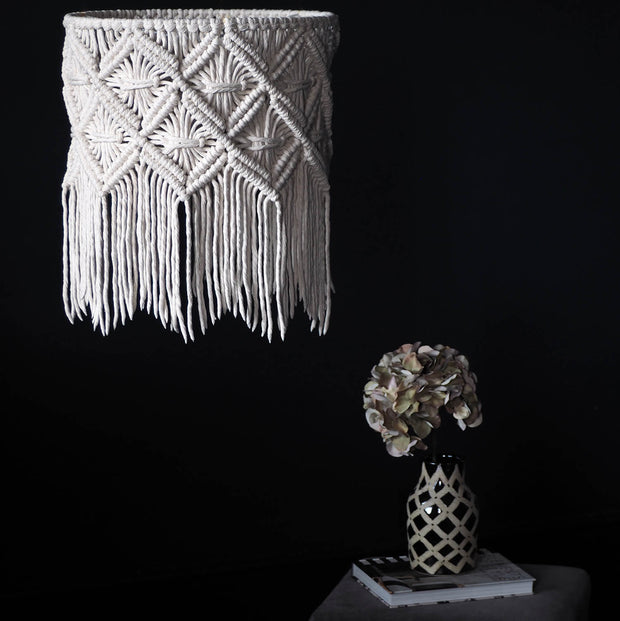 Macrame Lampshade – Viotina - The Knotted Touch UK