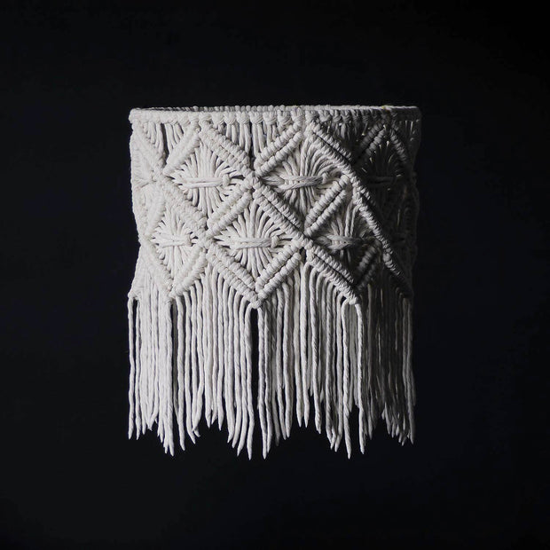 Macrame Lampshade – Viotina - The Knotted Touch