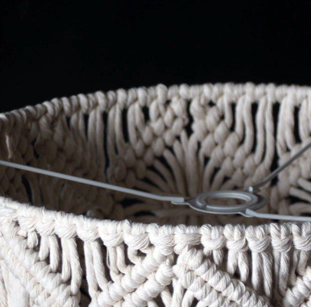 Macrame Lampshade – Viotina - Fitting Ring