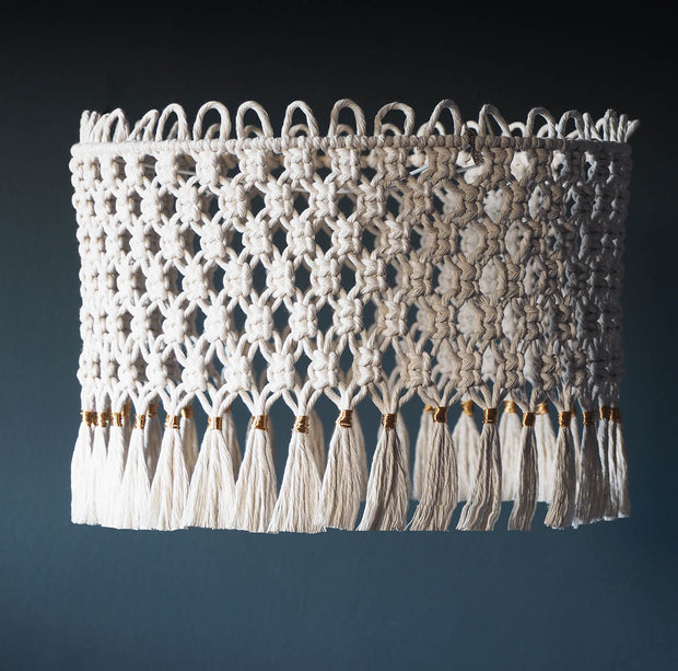 Quirky Boho Macrame Lampshade Light – Florena Short