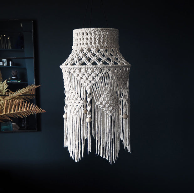 Boho Macrame Light Shade Crista Large - UK