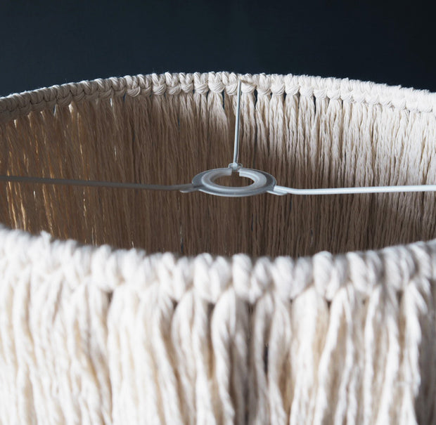 Tassel Light Shade – Pula - Fitting Ring