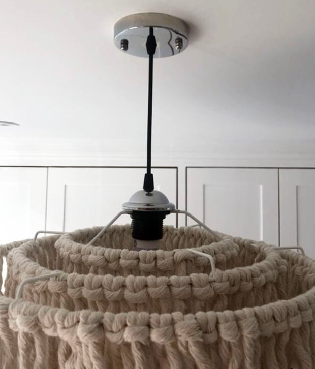 Boho Tassel Light Shade Salono Fitting Ring