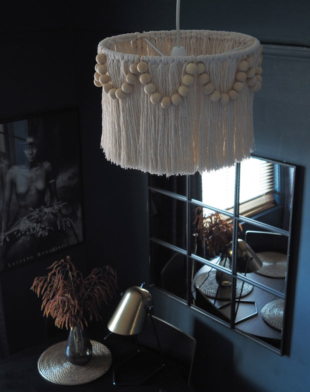 Tassel Light Shade 30cm – Pula Beaded - The Knotted Touch