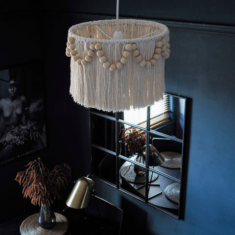 Boho Beaded Tassel Light Shade - Pula