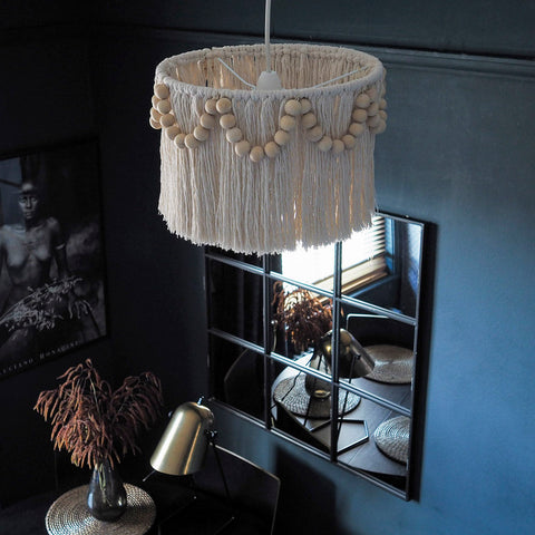 Tassel Light Shade 20cm – Pula Beaded