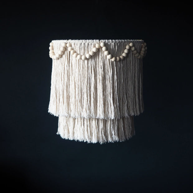 Tassel Boho Lightshade – Simone Beads - The Knotted Touch UK