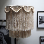 Tassel Boho Lightshade – Simone Beads - The Knotted Touch