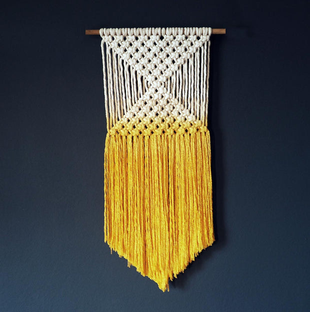 Yellow Macrame Wall Hanging – Ombra – Yellow Ombre
