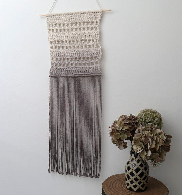 ombre grey wall hanging
