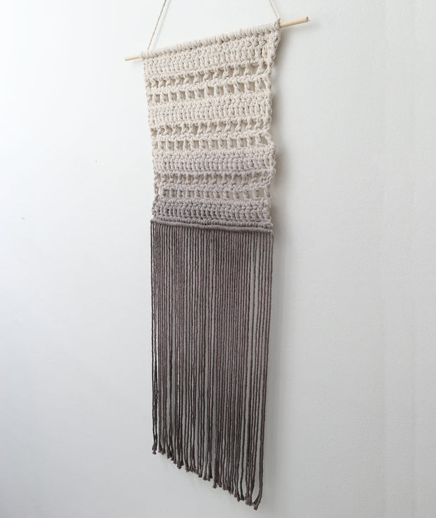 grey boho wall hanging