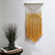 yellow wall hanging - fiber art