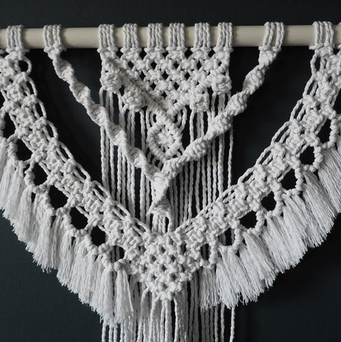 White Boho Wall Hanging