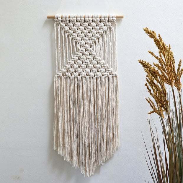 boho wall hanging ombra - natural