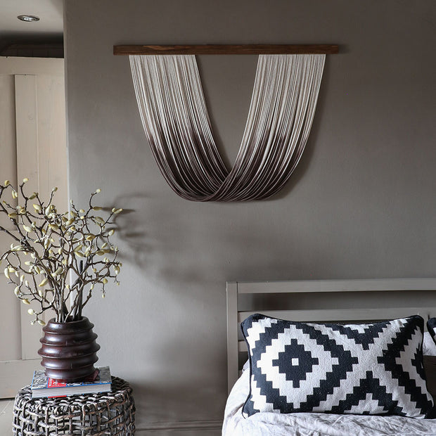 Dip Dyed Wall Hanging – Sando - Brown ombre