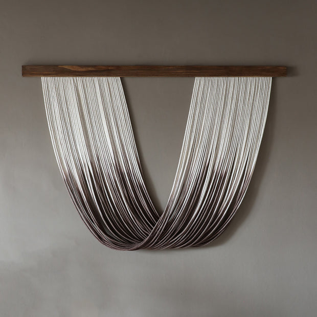 Dip Dyed Wall Hanging – Sando - Brown ombre effect