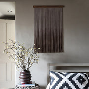 dip dyed dark wall hanging fiber art