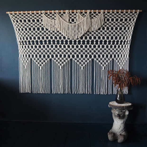 Extra Large Giant Macrame Wall Hanging/Curtain - Azelea, the knotted touch uk