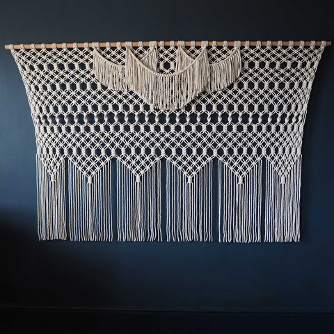 Extra Large Giant Macrame Wall Hanging/Curtain - Azelea, UK