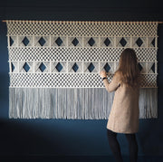 Large Wide Macrame Wall Hanging - Dumino