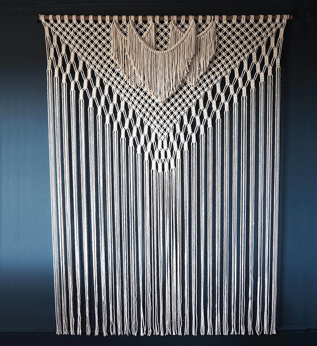 Extra Large Macrame Wall Hanging/Room Curtain/Divider– Filorina