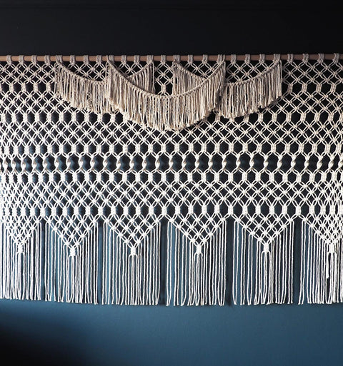 Extra Large Giant Macrame Wall Hanging - Azelea, the knotted touch uk