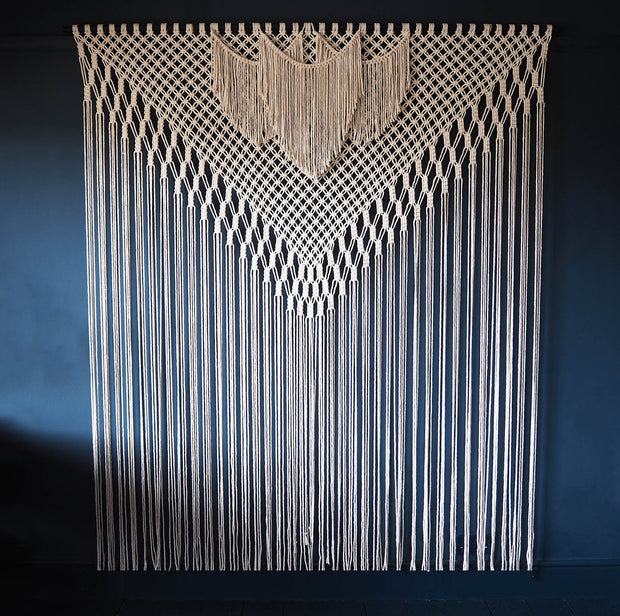 Large Macrame Wall Hanging/Room Divider – Filorina 200x220cm