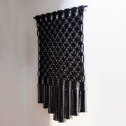 giant macrame wall hanging - fiber art wall decor uk