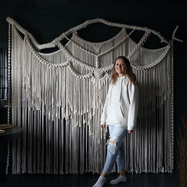 giant macrame wall hanging - room divider